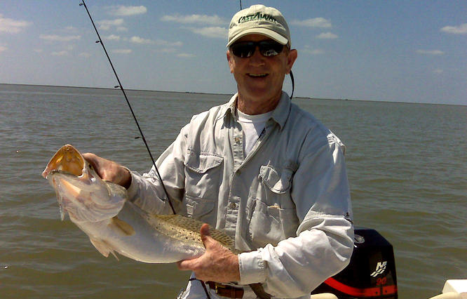 Robin Bear With Trout Caught In East Matagorda Bay